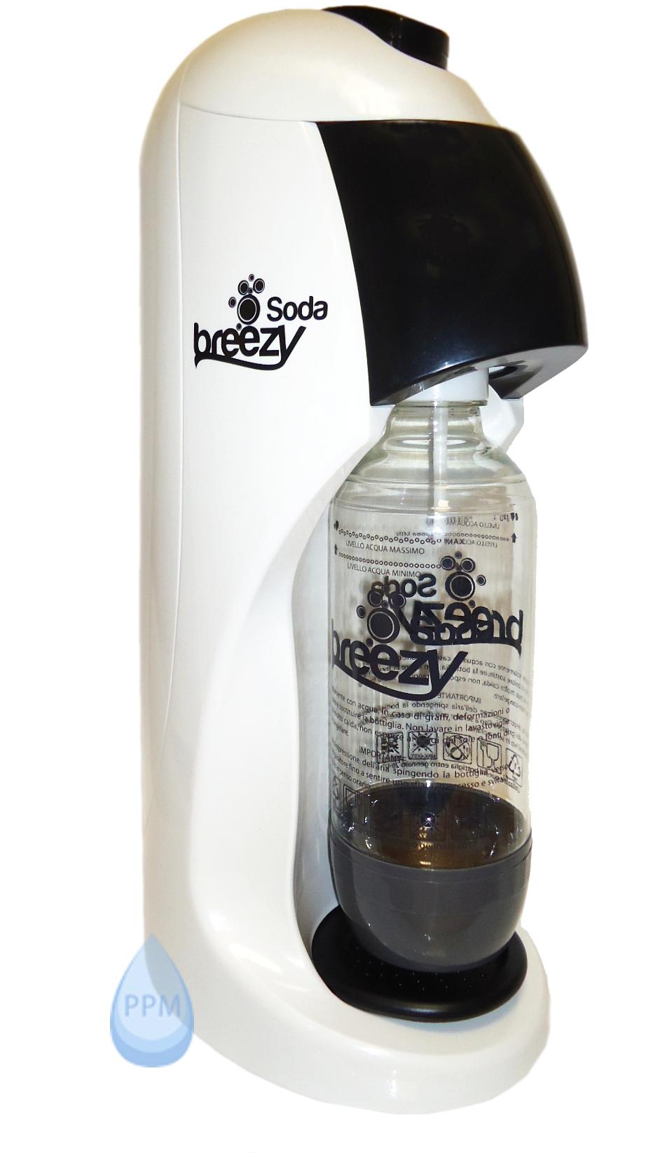 GASATORE ACQUA SODA BREEZY - COMPLETO DI RICARICA CO2 DA 450 GR ACQUA FRIZZANTE  eBay