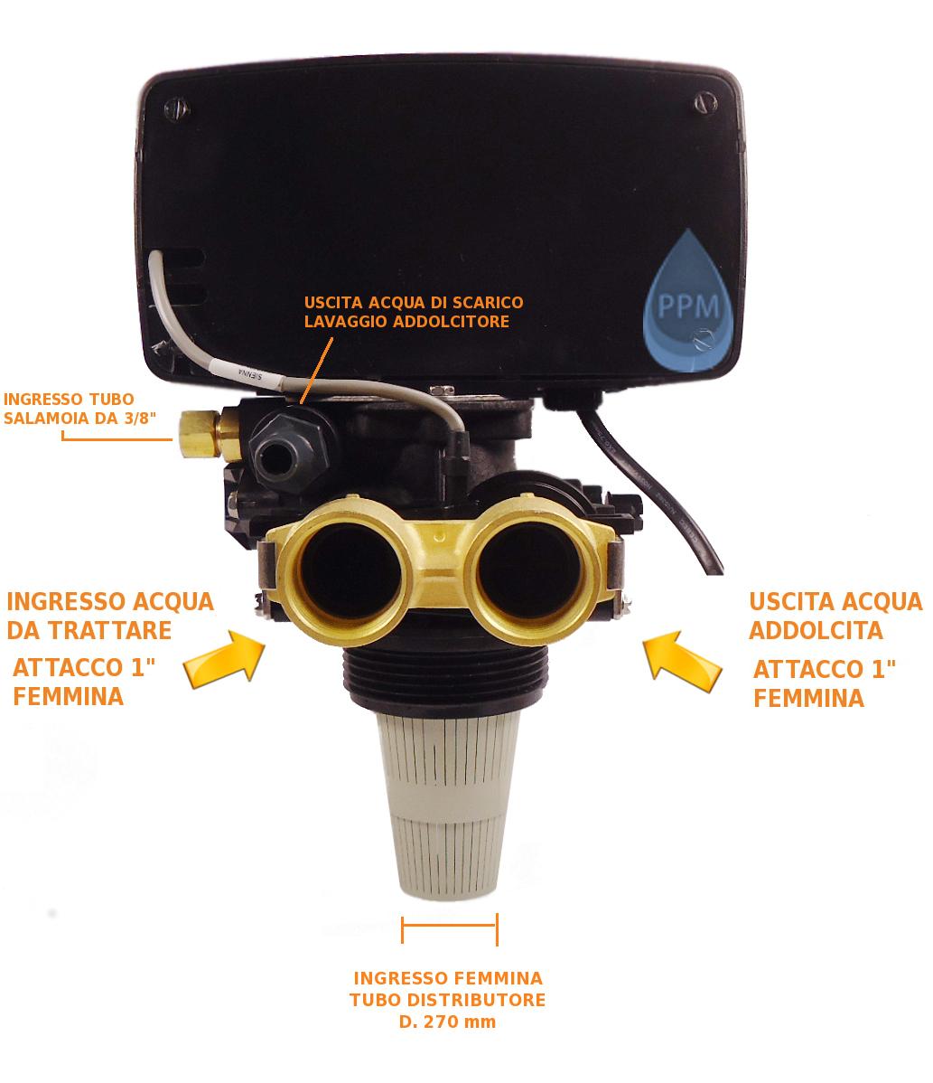 Testa valvola per addolcitore depuratore fleck 5600 for Materiale del tubo della linea d acqua